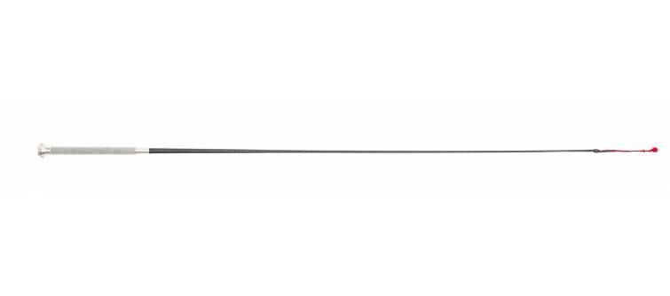 S43 Lacquered Cotton Braid, Suede Handle, 4 Plait Cotton and Leather Lash